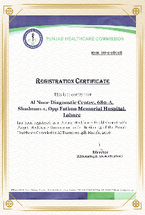 Certified Al Noor Diagnostic Laboratory in Pakistan